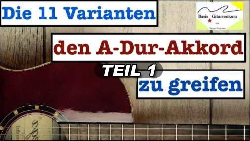 Akkorde Gitarre lernen