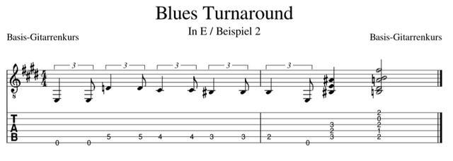 Blues Turnarounds in E chromatisch aufwärts